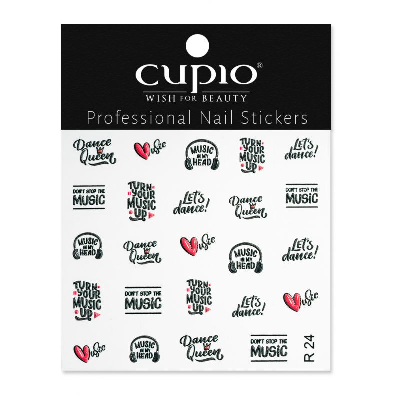Cupio 3D Nail Art Sticker R24
