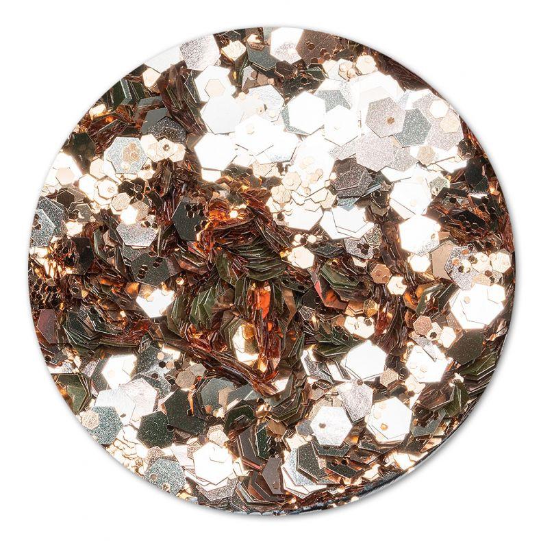Cupio Pailletten Disco Copper
