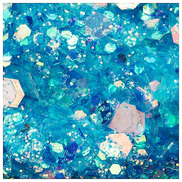 Cupio Pailletten Holo Hexa Blue