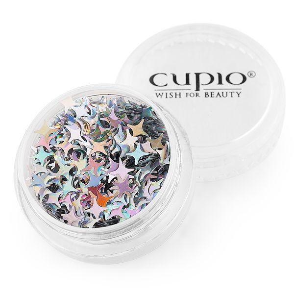 Cupio Pailletten Holo Star Silver