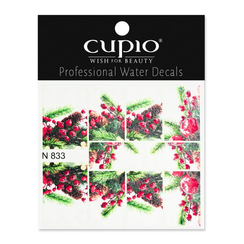 Cupio Winter Nail Art Tattoo N833