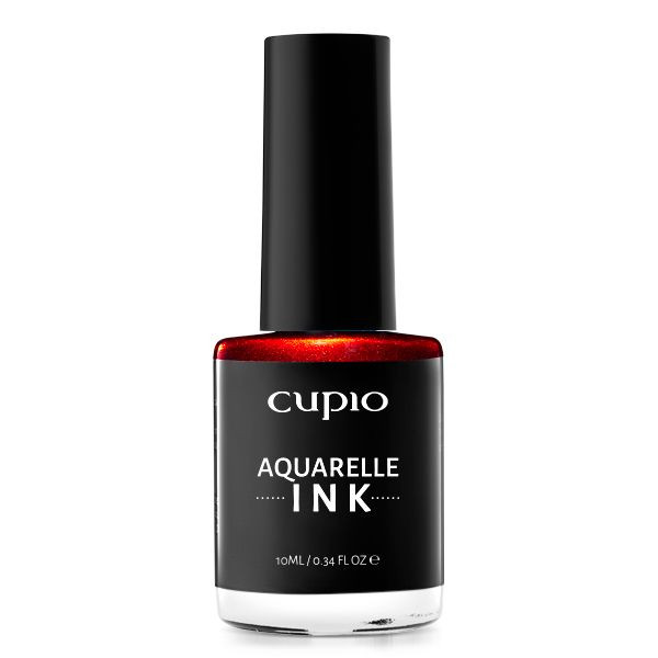 Cupio INK Aquarelle - Metallic Red