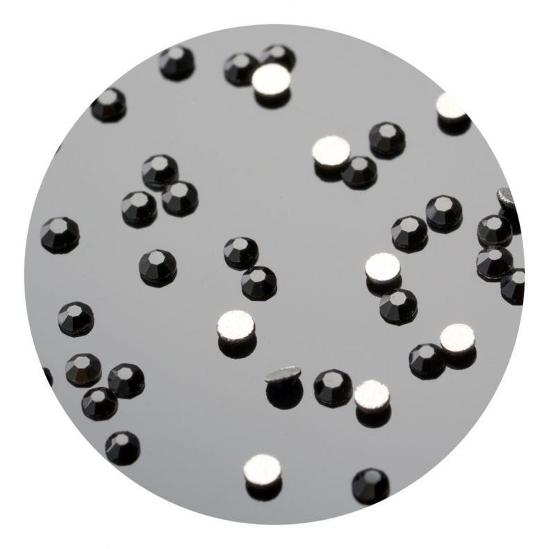 Nail Art Pinx Nagelkristalle. SS4 Schwarz 50 Stk