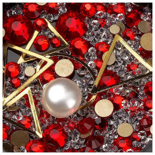 Mix Ornamente, Kaviar, Kristalle und Metallische Formen #03