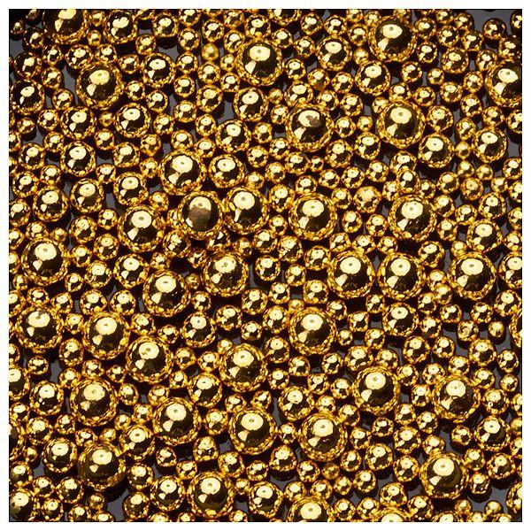 Nail Art Perlen - diverse Größen - Gold