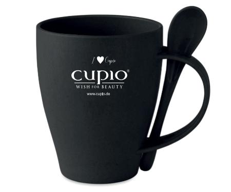 Pahar de cafea cu lingurita integrata Cupio