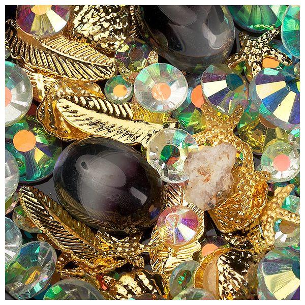 Mix Ornamente, Kaviar, Kristalle und Metallische Formen #07