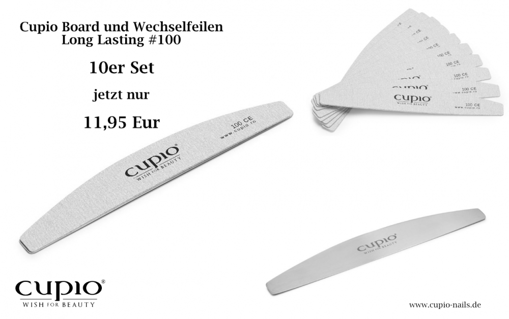 Cupio Board und 10er Wechselfeilen #100 Set