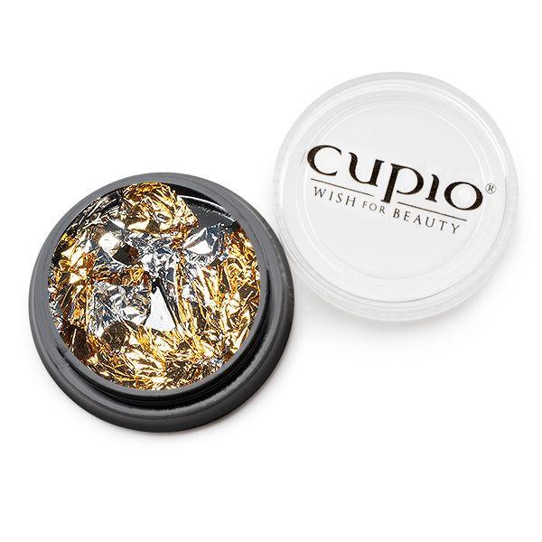 Ornament Nagelfolie Gold & Silber