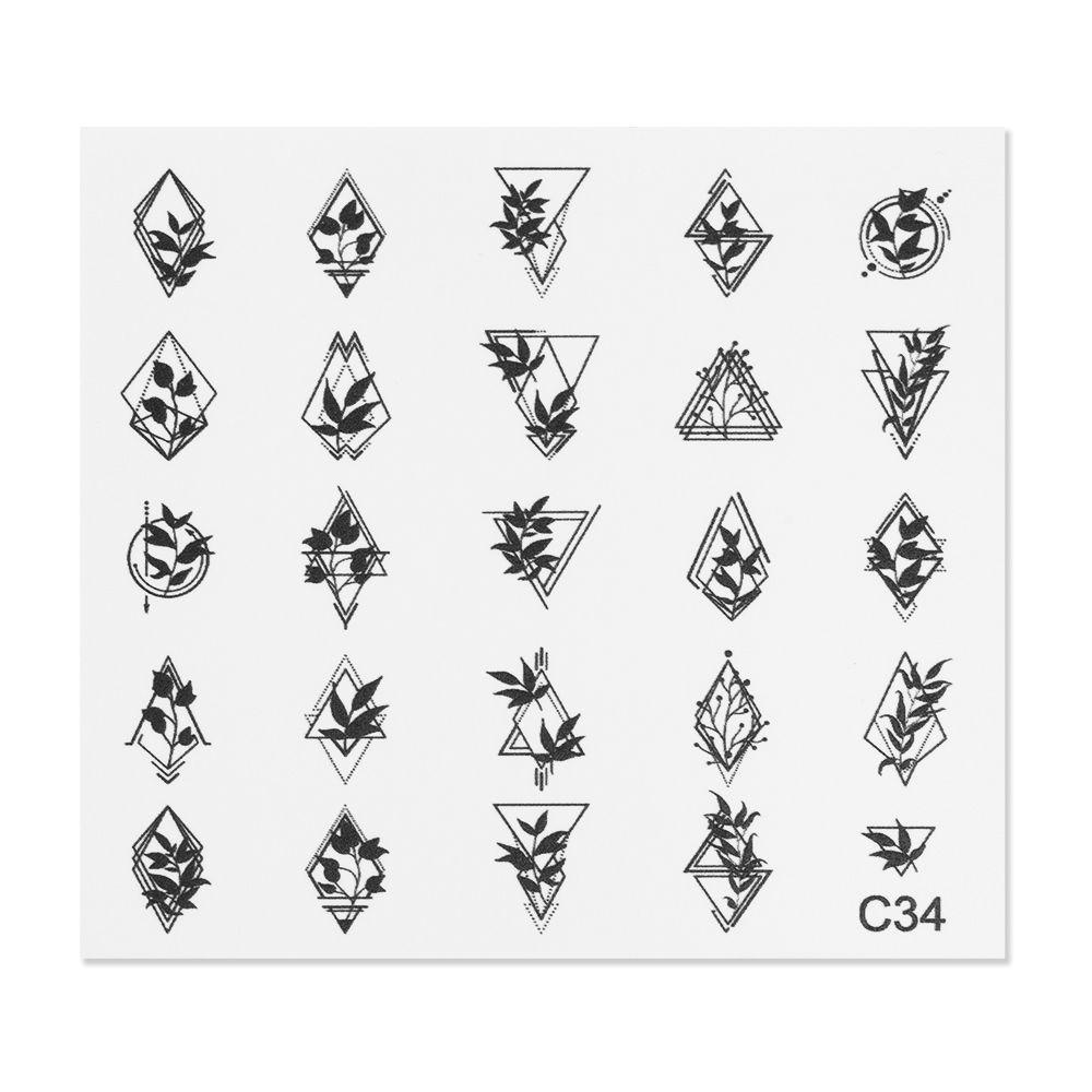 Cupio Nail Art Tattoo C34