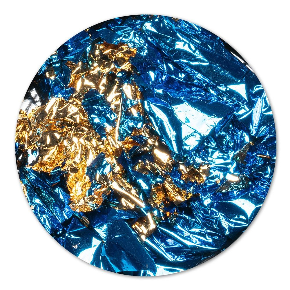 Ornament Nagelfolie Blau