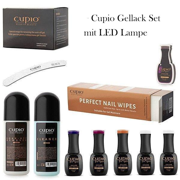 Cupio Gellack Set mit LED Lampe