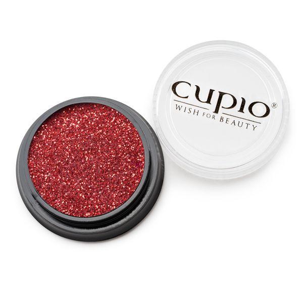 Cupio Premium Holo Glitzer Rubin
