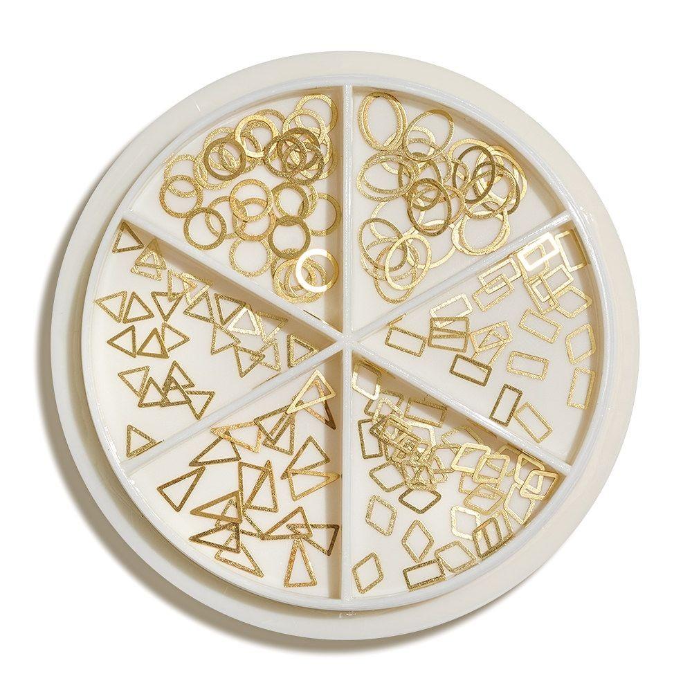 Karussell Metallische Ornamente - Gold Shapes