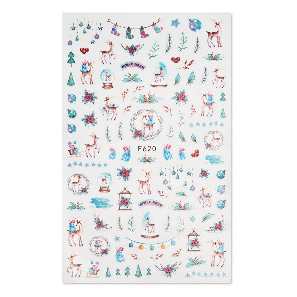 Nail Art Weihnachtssticker F620