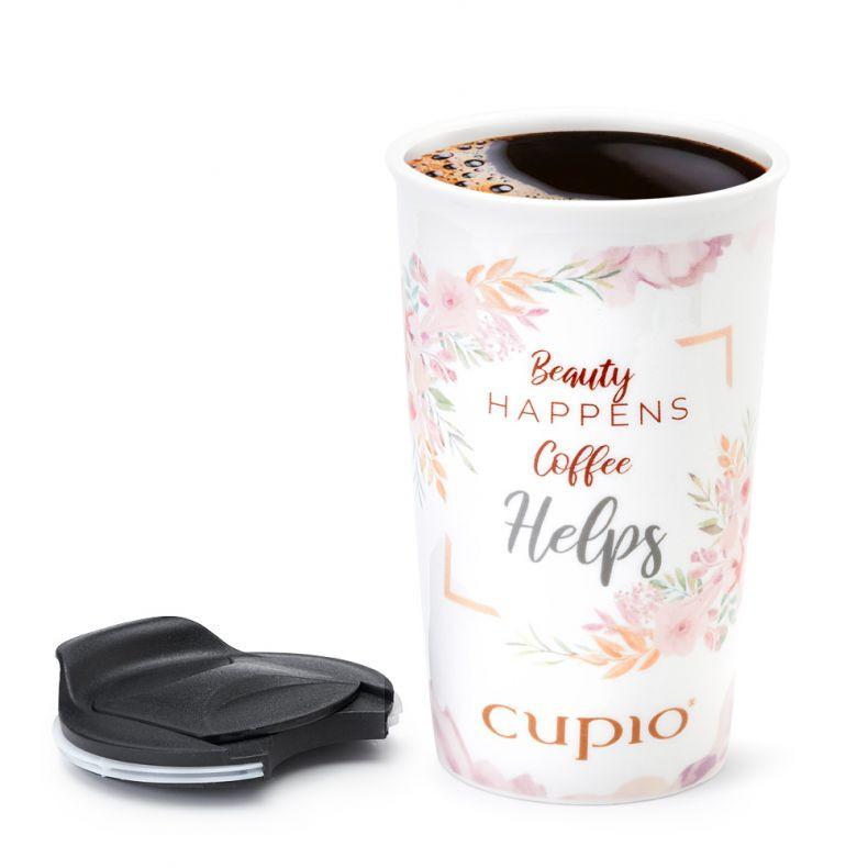 Cupio Tasse mit Deckel