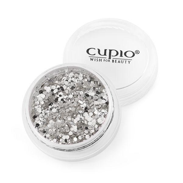 Cupio Maxi Pailletten Silber