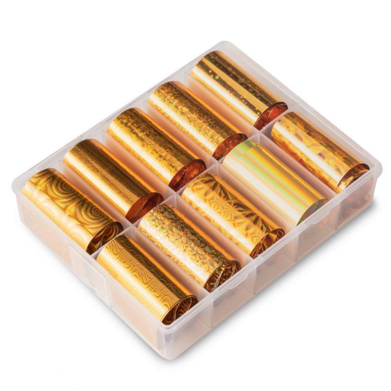 Transfer Folie 10er Set - Holographic Gold