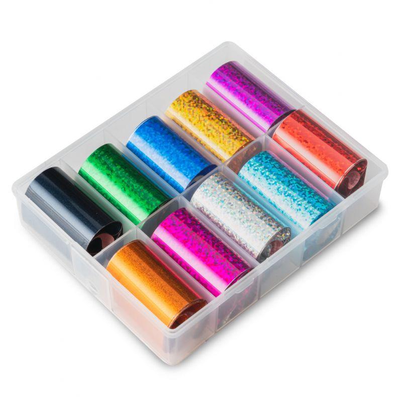 Transfer Folie 10er Set - Pixel Holographic Color