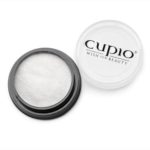 Cupio Premium Extra Fein Glitzer Weiß